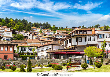 Ohrid in Macedonia - Ohrid city in a beautiful summer day,...