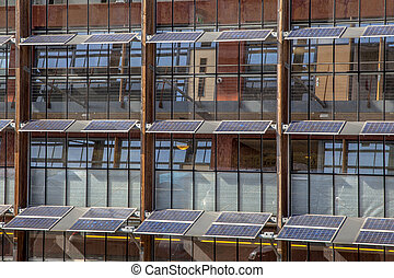 solar panels on an Office Building