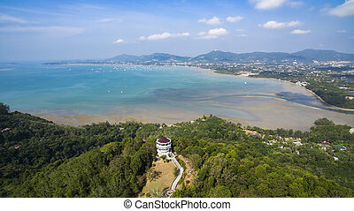 khao khad view point phuket southern of thailand