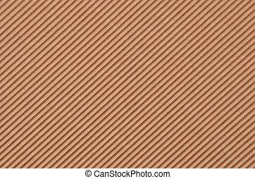 Crinkled cardboard background - Close up of brown crinkled...