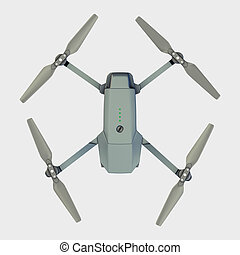drone isolated on white. 3d rendering - drone isolated on...