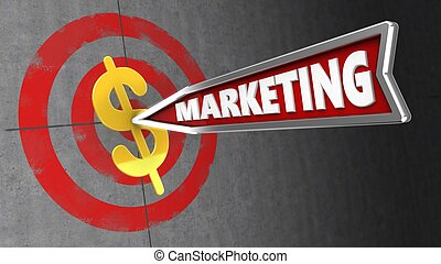 3d marketing arrow