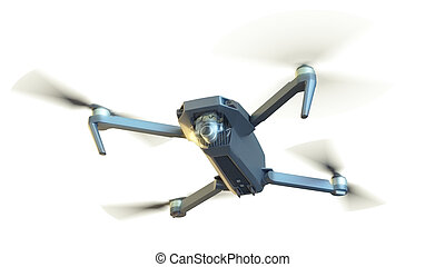 drone isolated on white. 3d rendering