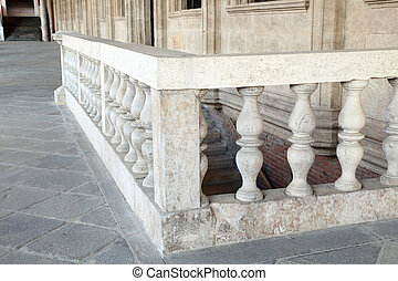 balustrade of the Palladian Basilica - stone balustrade of...