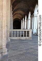 balustrade of the Palladian Basilica in the city of Vicenza...