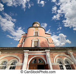 Donskoy Monastery. Medieval Russian churches on the...