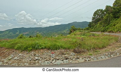 Curly Mountain Asphalt Road Around Grass by Forestry Hills -...