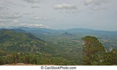 Panorama of Picturesque Valley among Green Hills - panorama...