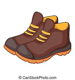Hiking boots icon, cartoon style