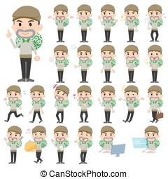 Burglar man - Set of various poses of Burglar man
