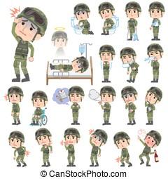 military wear man sickness