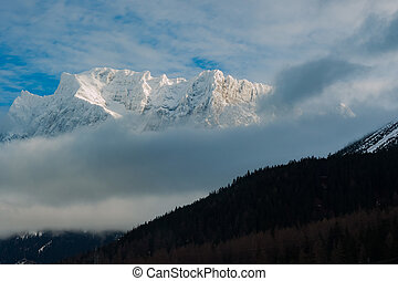 zugspitze - vertex zugspitze in Austrian Alps