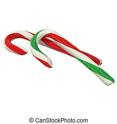 Traditional christmas candy, 3d rendering