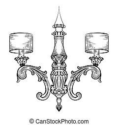 Baroque Elegant chandelier