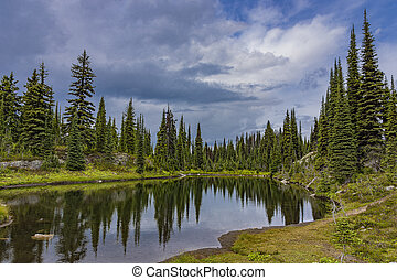 Alpine Lake in Revelstoke National Park British Columbia Canada