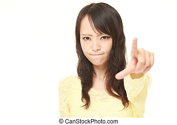young Japanese woman scolding