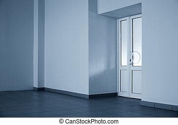 The glazed door