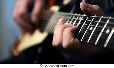 Guitarist Playing Solos