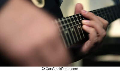 Guitarists Playing On Guitar - Guitarists Hands Playing On...