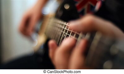 Guitarist Playing On Guitar - Guitarist Playing On...