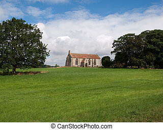 A church in a field