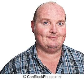 portrait smiling middle age man close up - photo portrait...