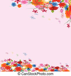 Vector background flowers spring