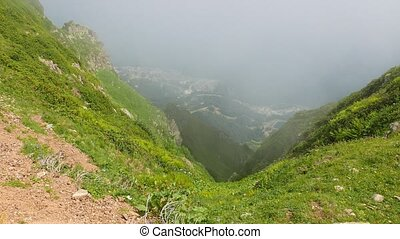 Valley Rosa Khutor, the view from the clouds, Sochi, Russia....