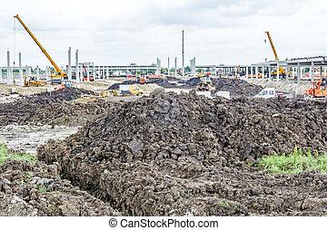 View on landscape, building site - Landscape transform into...