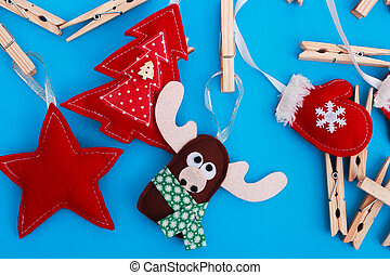 Christmas toys with their own hands