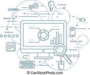 Web analytics and data flow abstract design