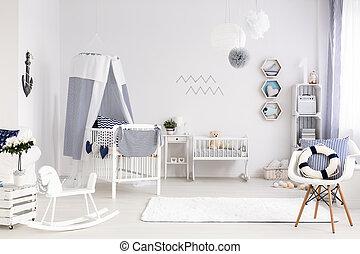 Stylish interior for a new family member