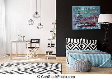 Creative interior design - Cozy creative studio apartment...