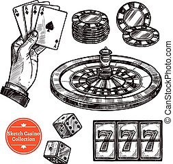 Hand Drawn Sketch Casino Collection - Hand drawn sketch...