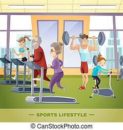 Sports Family Flat Template
