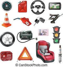 Car Maintenance Set - Car maintenance set of different auto...