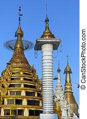 Shwedagon Pagoda Complex - Yangon- Myanmar - The Shwedagon...