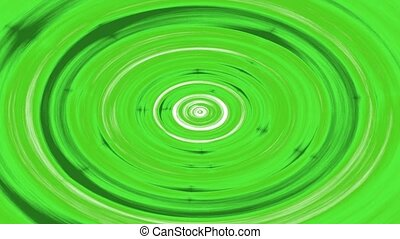 Swirling hypnotic circle animation - Green hypnotic looping...