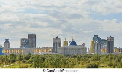The main attractions of the new Astana. Ak orda Palace,...