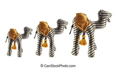 Camel Soft Toys on White Background