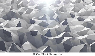 Low poly abstract background. Loop animation