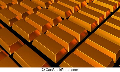 Fine gold bars. Seamless loop