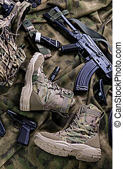 Pair of modern military footwear - Pair of modern military...