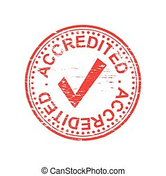 Round Accredited Rubber Stamp - Round accredited grungy...