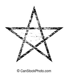 Grungy Pentangle Symbol - Grungy distressed occult pentangle...