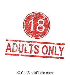 Adults Only Rubber Stamp - Adults only grungy rubber stamp...