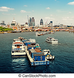 City of London view from Waterloo Bridge This view includes:...