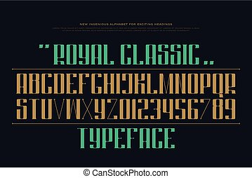 classic keen - uppercase alphabet letters and numbers....