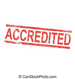 Accredited Rubber Stamp - Accredited grungy rubber stamp...