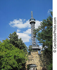 Petrin tower in the center of Prague